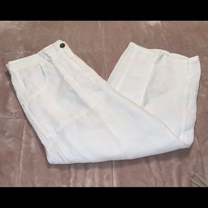 Chico's 100% Linen Crop Pants Capris Sz 0